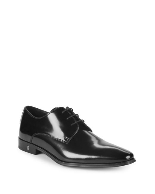 Versace - Black Patent Leather Derby Shoes for Men - Lyst