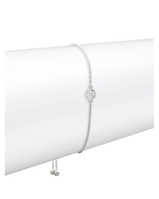 Effy - Diamond And 14k White Gold Bracelet, 0.15 Tcw - Lyst