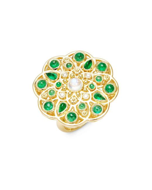 Temple St. Clair - Metallic Cl Color 18k Yellow Gold Mosaic Statement Ring - Lyst