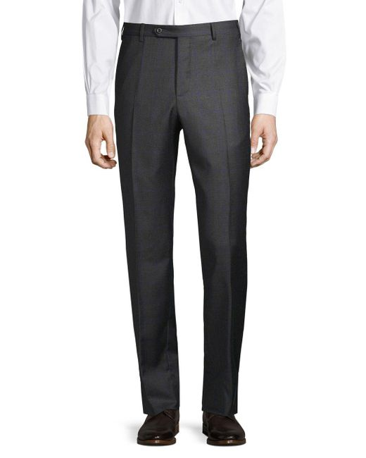Zanella - Gray Classic Wool Pants for Men - Lyst