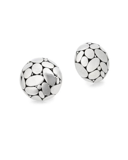 John Hardy - Metallic Kali Sterling Silver Button Earrings - Lyst
