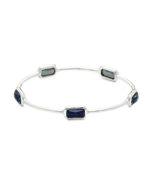 Ippolita - Metallic Rock Candy Onyx, Clear Quartz & Sterling Silver Bangle - Lyst