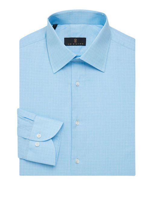 Ike Behar - Blue Regular-fit Shadow Glen Plaid Dress Shirt for Men - Lyst