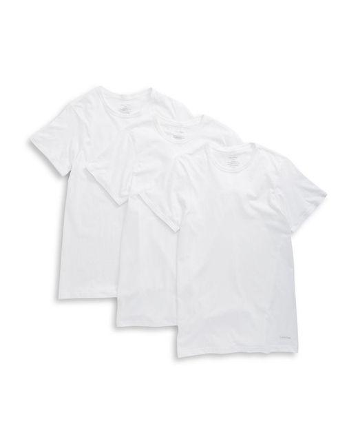 Calvin Klein - Black 3-pack Slim Fit Crewneck T-shirts for Men - Lyst