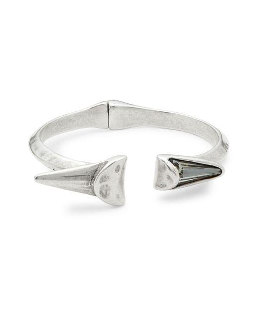 Uno De 50 - Metallic Crystal And Open Cuff Bracelet - Lyst