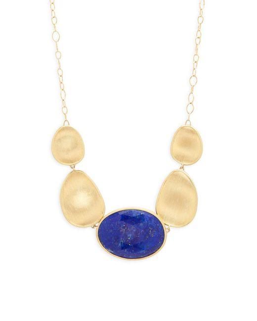 Marco Bicego - Metallic Lunaria 18k Yellow Gold & Blue Lapis Necklace - Lyst