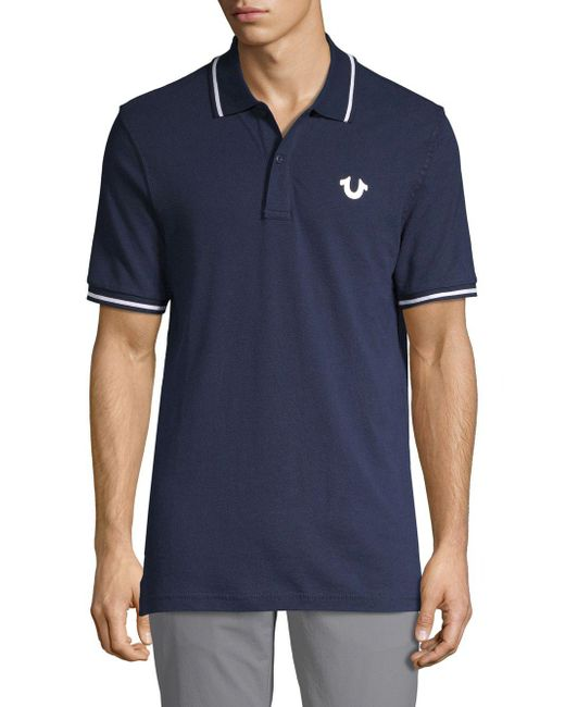 d8ea1dc1c Lyst - True Religion Signature Print Polo Shirt in Blue for Men