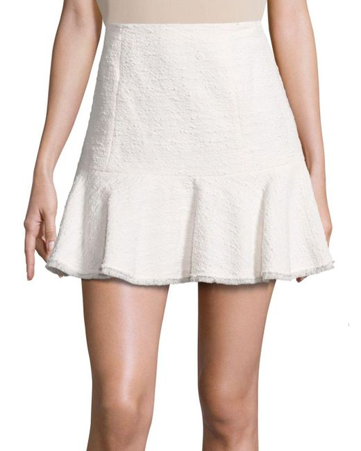 Rebecca Taylor - White Textured Tweed Skirt - Lyst