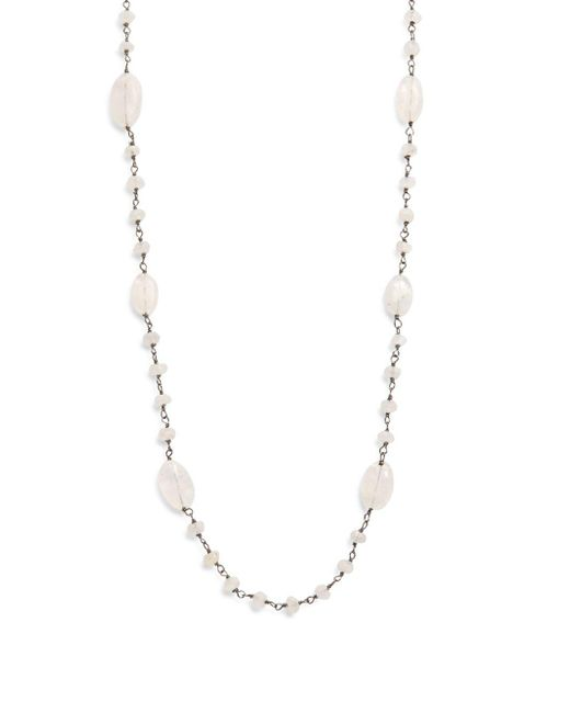 Bavna - Metallic Sterling Silver Necklace - Lyst
