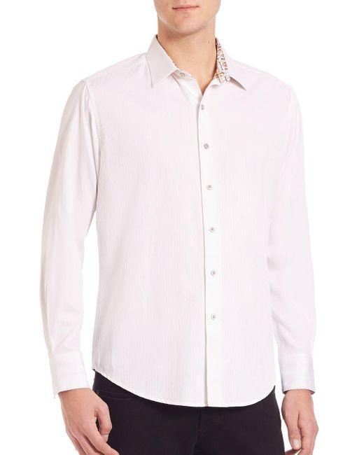 Robert Graham - White Cullen Cotton Button-down Shirt for Men - Lyst