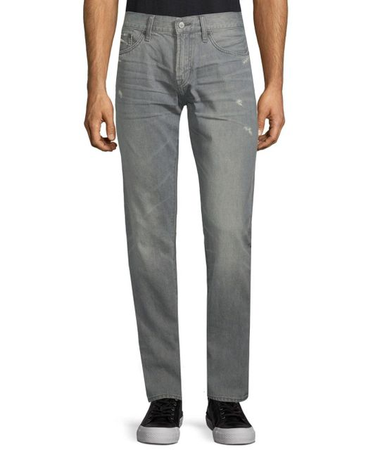 Jean Shop - Gray Mick Slim-fit Cotton Jeans for Men - Lyst