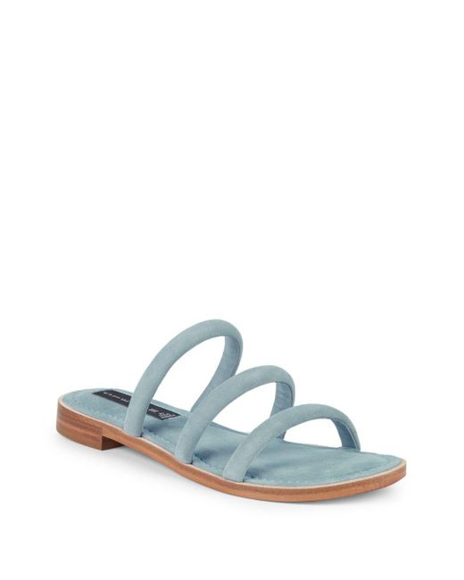 Steven by Steve Madden - Blue Chacha Strappy Suede Slides - Lyst