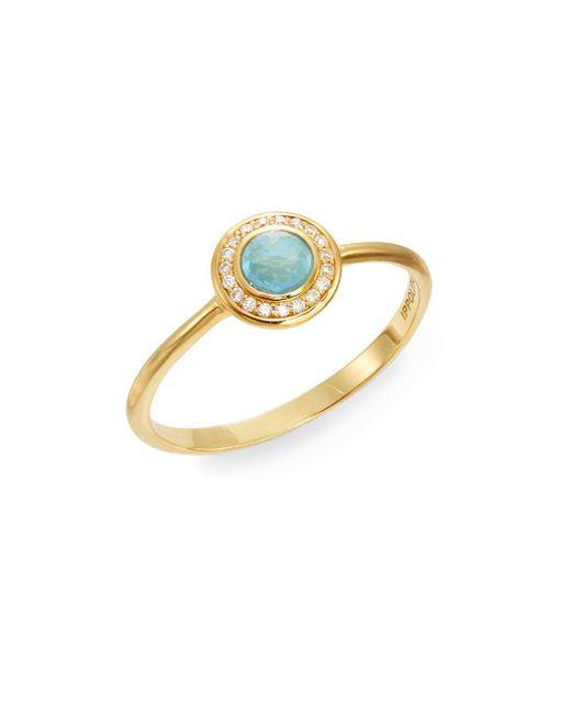 Ippolita - Metallic Lollipop Turquoise, Diamond & 18k Yellow Gold Mini Ring - Lyst