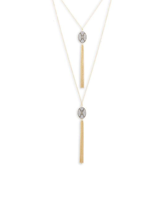 Freida Rothman - Metallic Contemporary Deco Tassel Necklace - Lyst