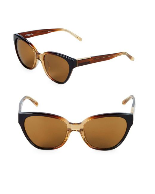 3.1 Phillip Lim - Brown 55m Cat-eye Sunglasses - Lyst