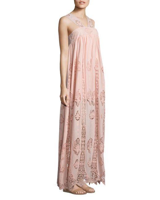 Nightcap - Pink Pixie Lace Gown - Lyst