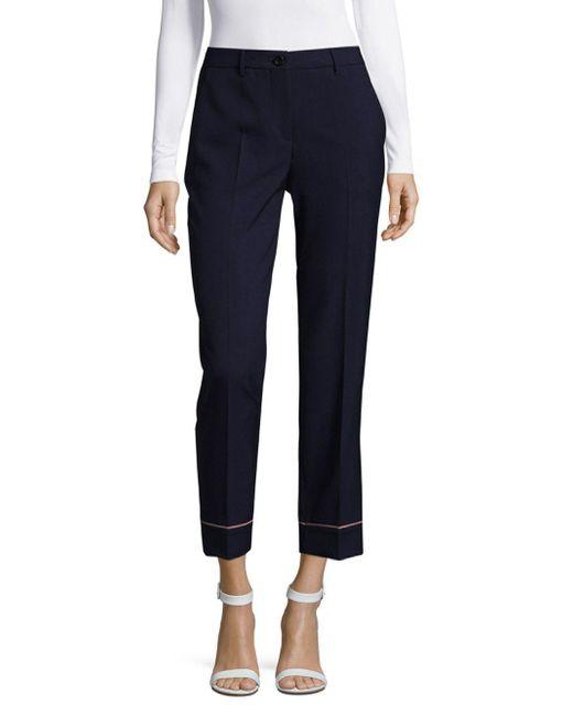 Miu Miu   Blue Cropped Pants In Style   Lyst