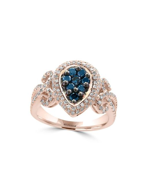 Effy | Metallic Diamond & 14k Rose Gold Ring | Lyst