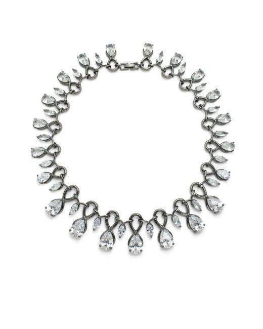 Noir Jewelry | Black Cubic Zirconia & Crystal Necklace | Lyst