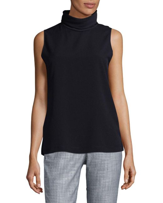 French Connection - Blue Polly Turtleneck Top - Lyst