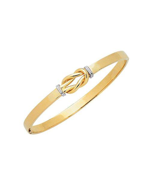 Saks Fifth Avenue - Metallic 14k Yellow Gold Two-tone Knot Bracelet - Lyst