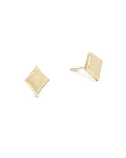 Alex Woo - Metallic Little Vegas 14k Yellow Gold Stud Earrings - Lyst