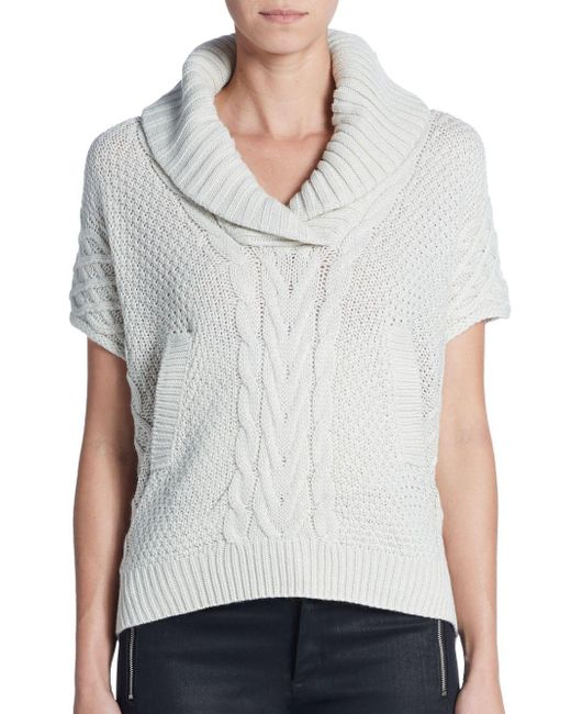 Saks Fifth Avenue | White Mixed-knit Sweater | Lyst