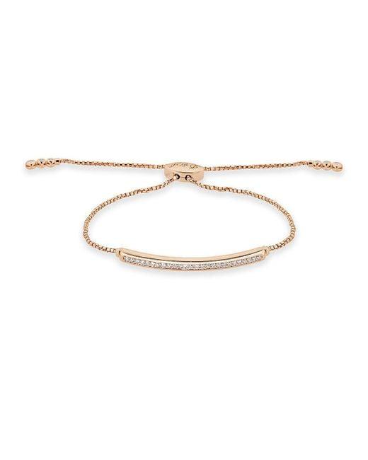 Saks Fifth Avenue - Metallic Diamond Fringe Diamond And 14k Rose Gold Adjustable Bracelet - Lyst