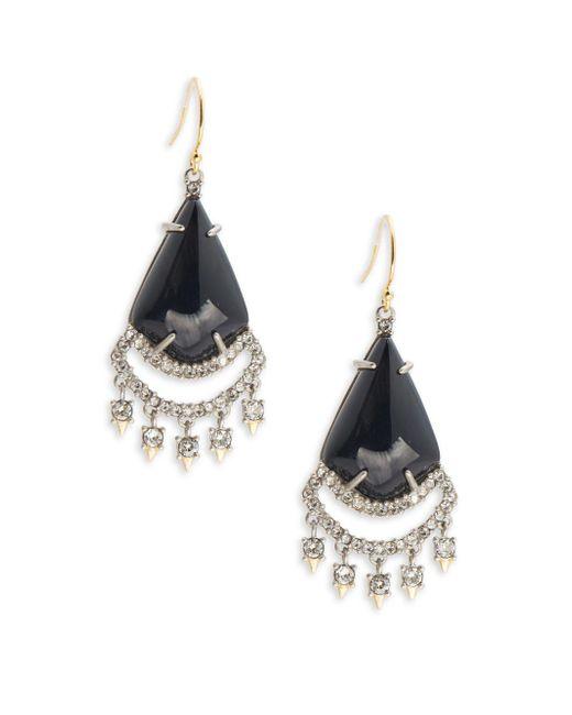 Alexis Bittar | Black Lace Chandelier Drop Earrings | Lyst