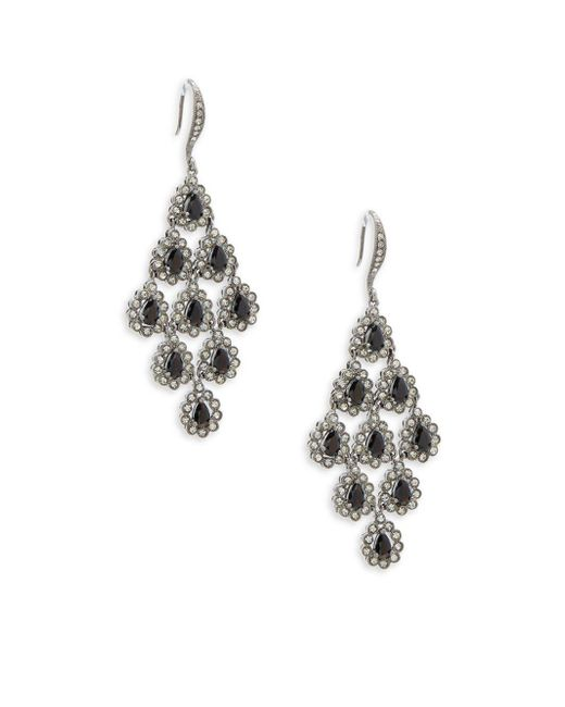 Adriana Orsini - Metallic Crystal Tiered Earrings - Lyst