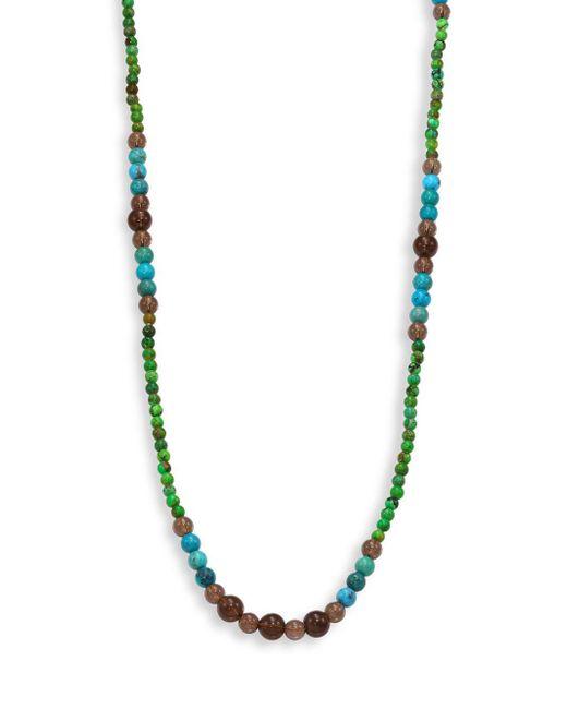 Stephanie Kantis | Green Turquoise Howlite, Blue Turquoise Howlite & Smoky Topaz Beaded Necklace | Lyst
