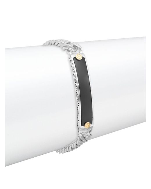 Effy - Metallic Onyx, Sterling Silver & 18k Yellow Gold Bracelet - Lyst