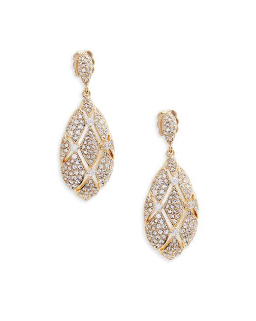 Adriana Orsini - Metallic Goldtone Crystal Oval Drop Earrings - Lyst