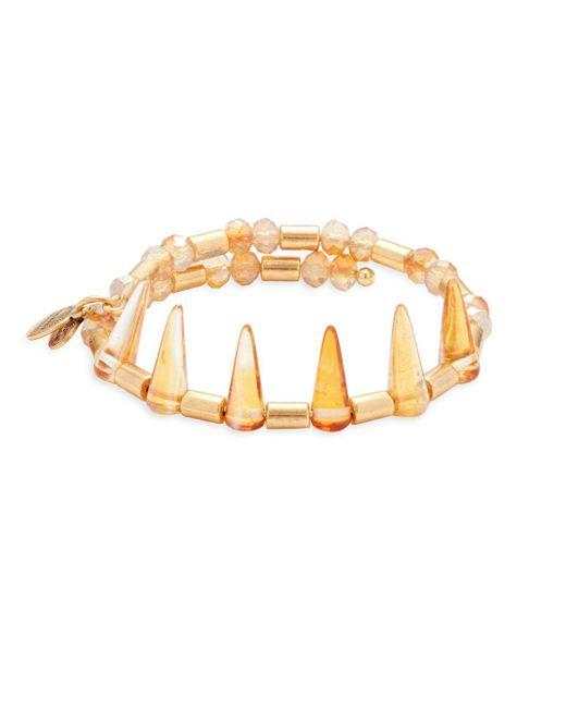 ALEX AND ANI - Metallic Golden Aura Bracelet - Lyst
