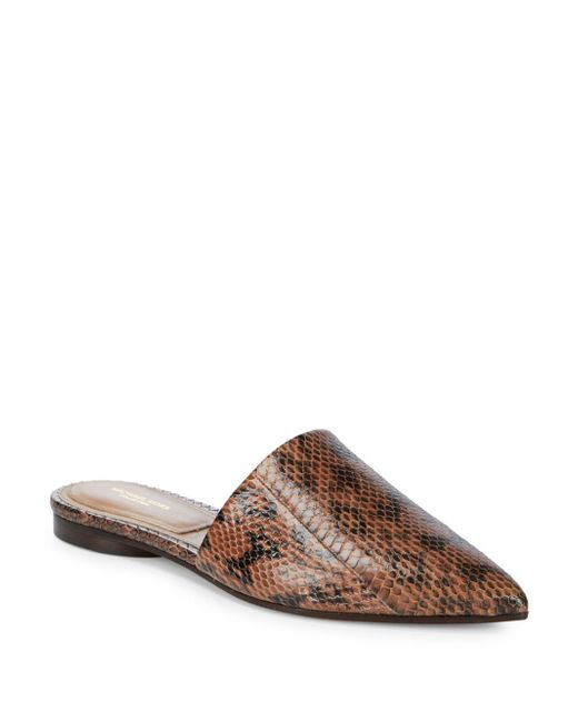 Michael Kors | Brown Darla Animal-print Leather Mules | Lyst