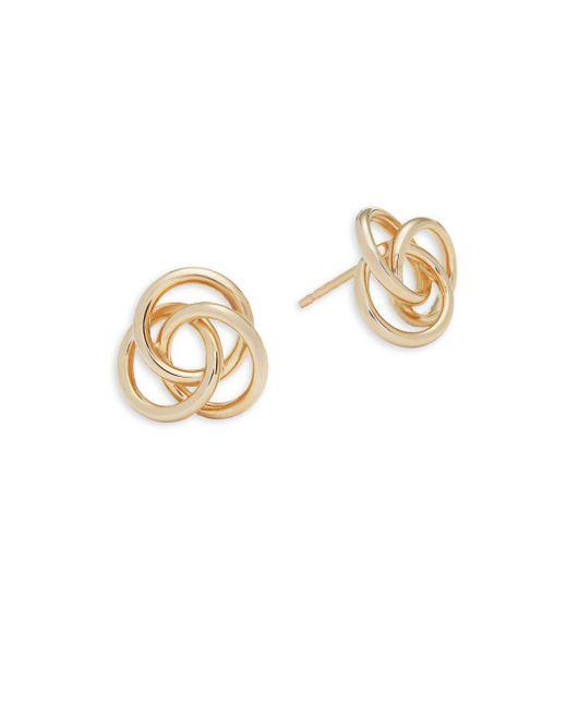 Saks Fifth Avenue - Metallic 14k Gold Love Knot Earrings - Lyst