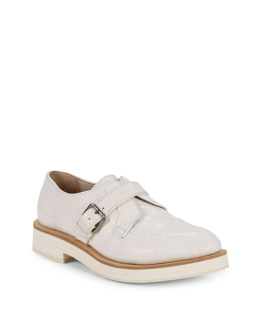 Brunello Cucinelli - White Classic Leather Monk Shoes for Men - Lyst