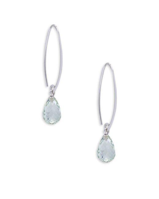 Saks Fifth Avenue - Metallic Peridot And Sterling Silver Simple Sweep Drop Earrings - Lyst