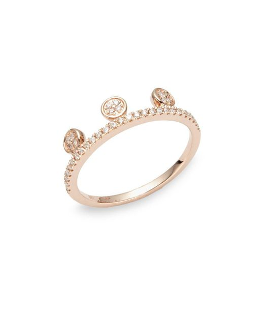 Ron Hami - Metallic Dot Diamond & 14k Rose Gold Tiara Ring - Lyst