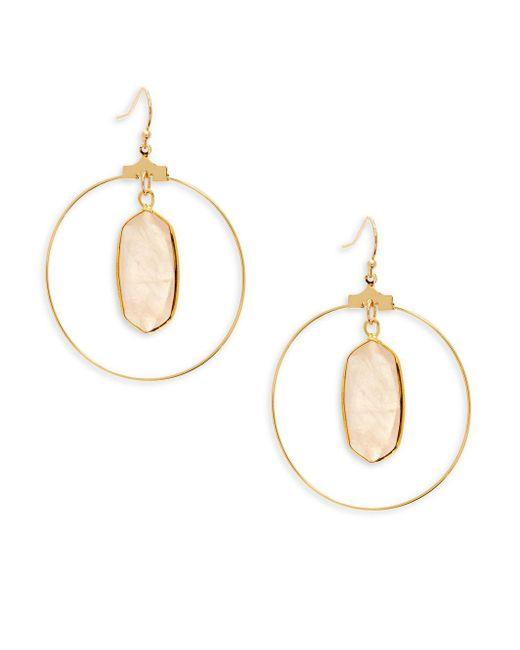 Panacea - Metallic Crystal Drop Earrings - Lyst