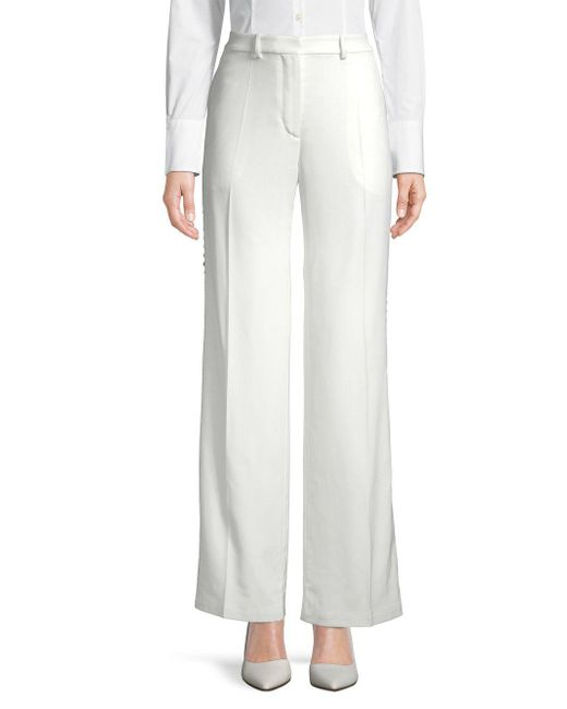 Ports 1961 - White Stretch Scalloped Pants - Lyst