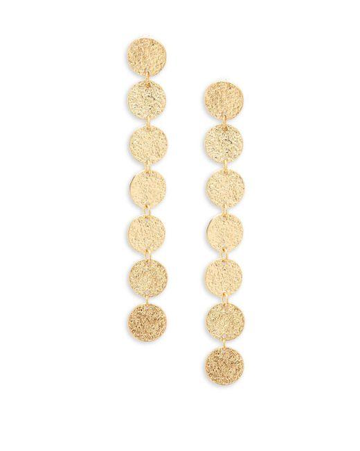 Panacea - Metallic Disc Linear Drop Earrings - Lyst