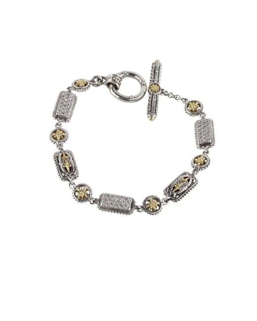 Konstantino Asteri Pave White Diamond Link Bracelet pQkq1TTO3