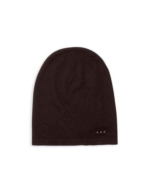 John Varvatos - Black Knitted Wool Beanie for Men - Lyst