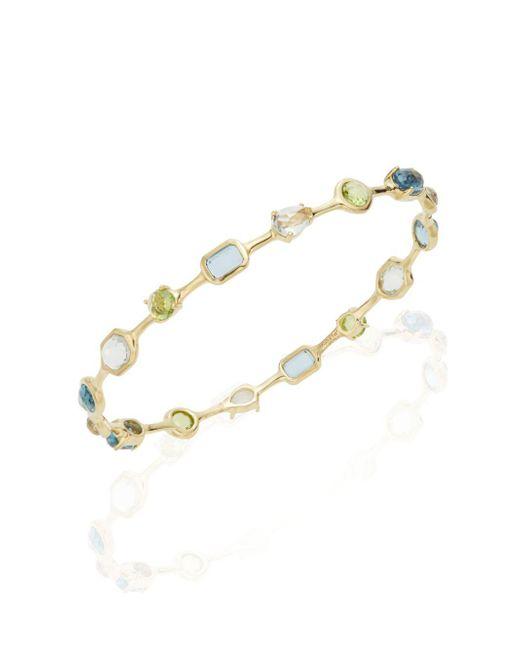 Ippolita | Metallic Rock Candy Multi-stone & 18k Yellow Gold Bangle Bracelet | Lyst