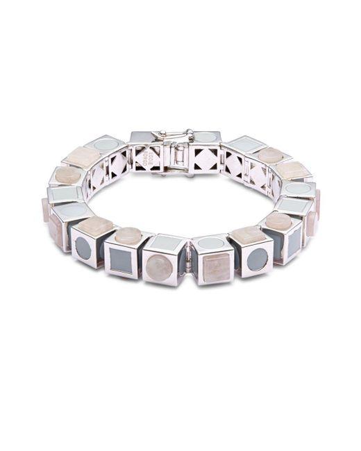 Eddie Borgo - Metallic Mosaic Cube Bracelet - Lyst