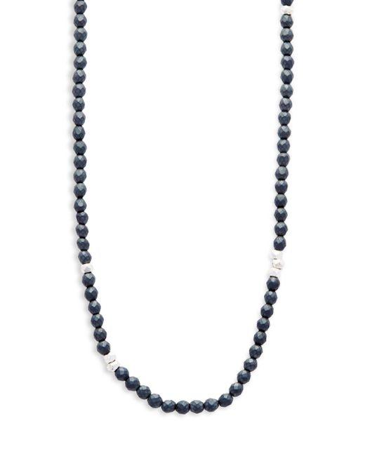 Saks Fifth Avenue - Black Beaded Single Strand Necklace - Lyst
