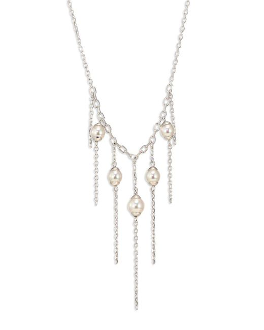 Majorica - Metallic Willow Five-pearl Chain Necklace - Lyst