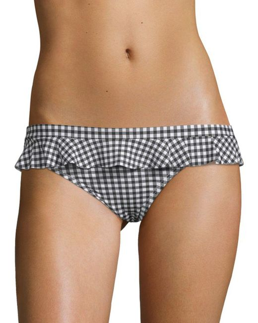 Juicy Couture - Black Gingham Bikini Bottom - Lyst