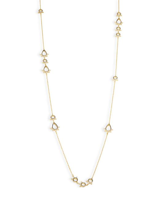 Freida Rothman - Metallic Classic Cubic Zirconia And Sterling Silver Open Oval Station Necklace - Lyst